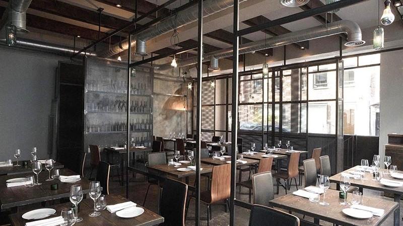 restaurant, décoration, style, industriel, Paris