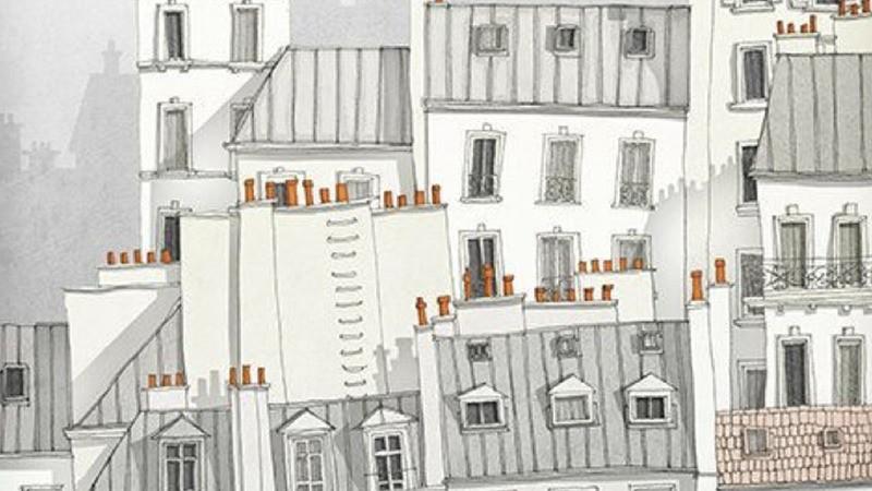 Toits, Paris, Charme, Illustrations, arts, graphisme