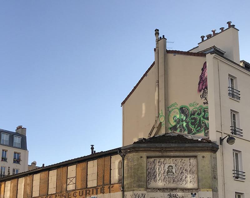 Graffiti, graph, tags, art, street art, toits, paris