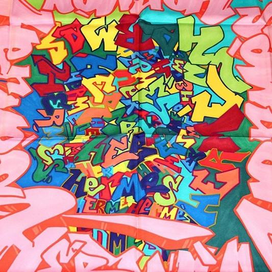 Graffiti, Kongo, artiste, collaboration , hermès, soie