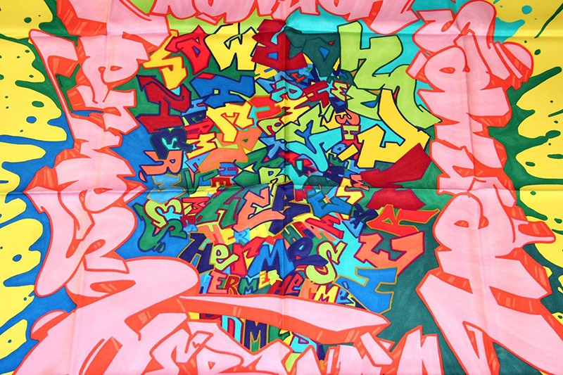 Graffiti, Kongo, artiste, collaboration , hermès, soie