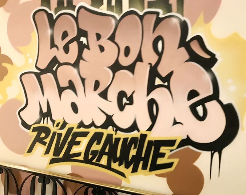 graffiti, street art, paris, parisien, grand magasins, Bon marché