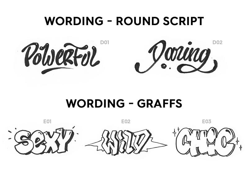 wording, round scripte, graffiti, graph, tag
