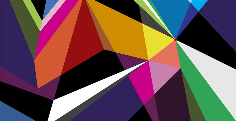 Formes géométriques, art, street art