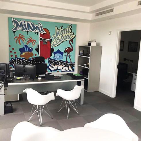Miami, graffiti, street art, decoration, canvas