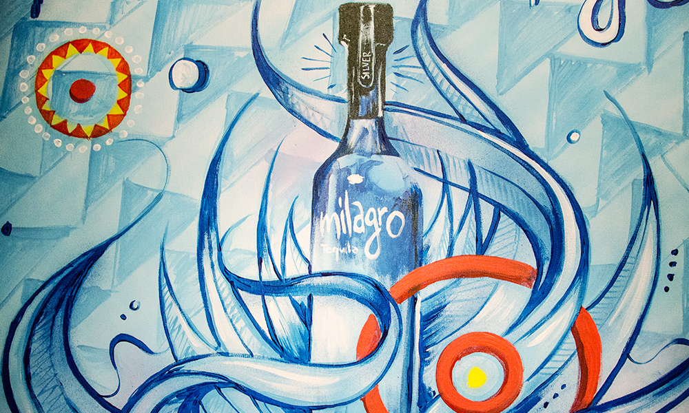 identité marquée de la Tequila sud américaine de qualité
