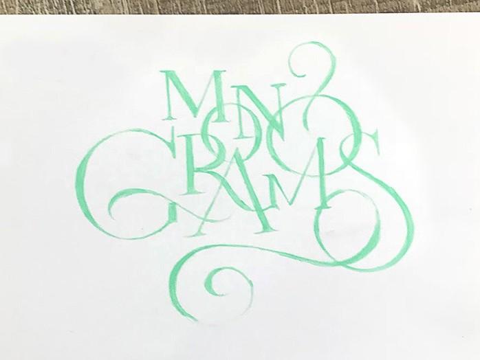 Monograms, Monogrammes, initiales, papier, cuir, graffiti, street art
