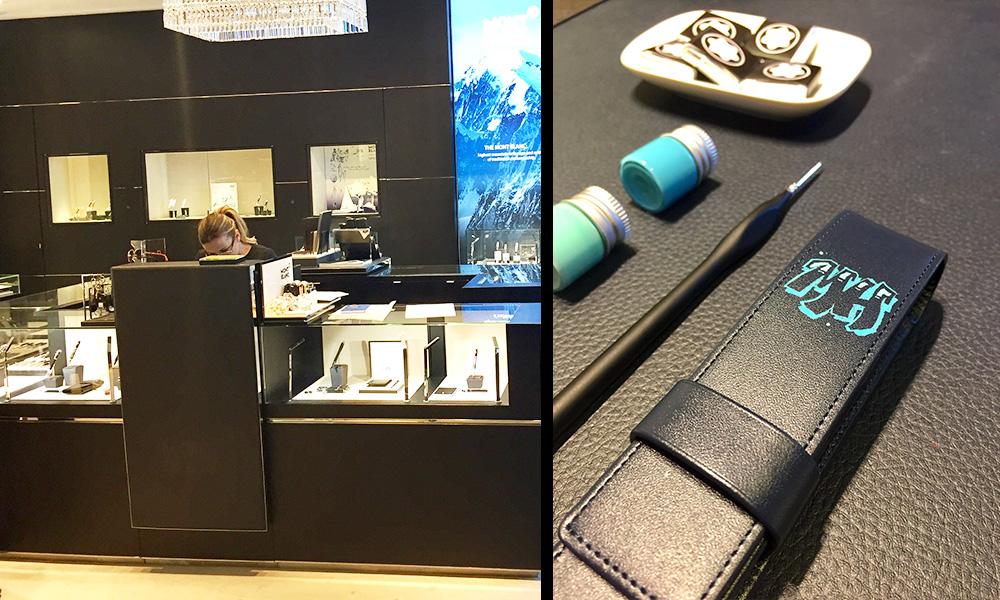 animation, opération en boutique, personnalisation sur petites pièces de maroquinerie