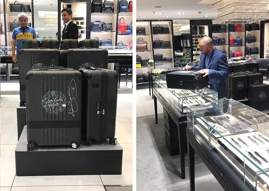 AB de Villiers, valises, montblanc, trolleys, New Dehli