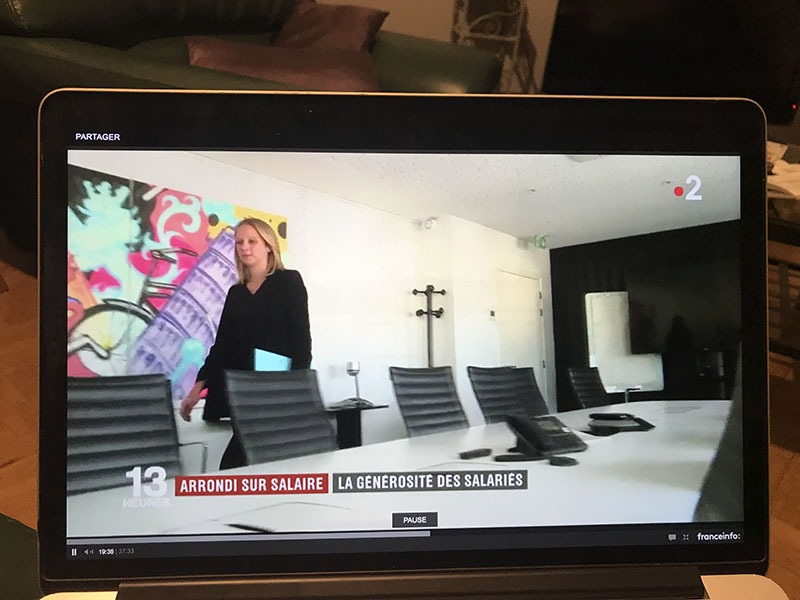 Journal, Télévisé, 13h, diffusion, art, salle réunion, décoration