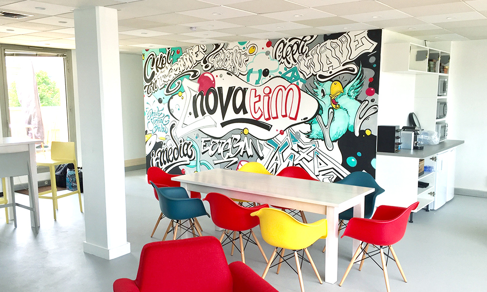 espace, commun, cuisine, cantine, cafétéria, entreprise, paris