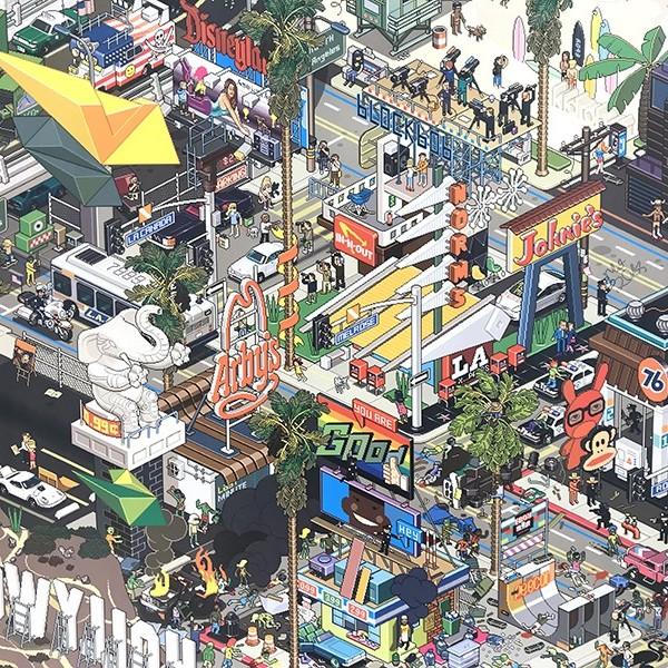 Pixel Art, illustration, graphisme, le Bon Marché, graffiti, paris