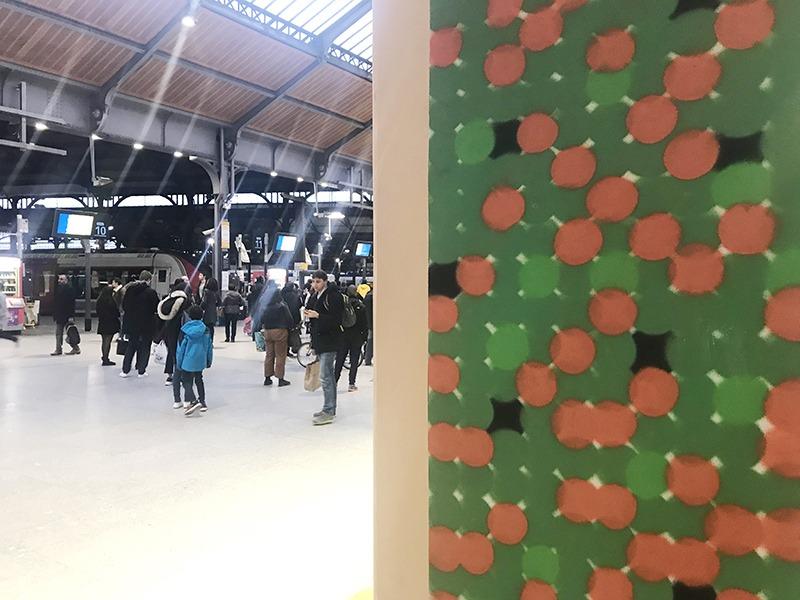 Saint-Lazare, pointillise, street art, gare, art, street, graffiti