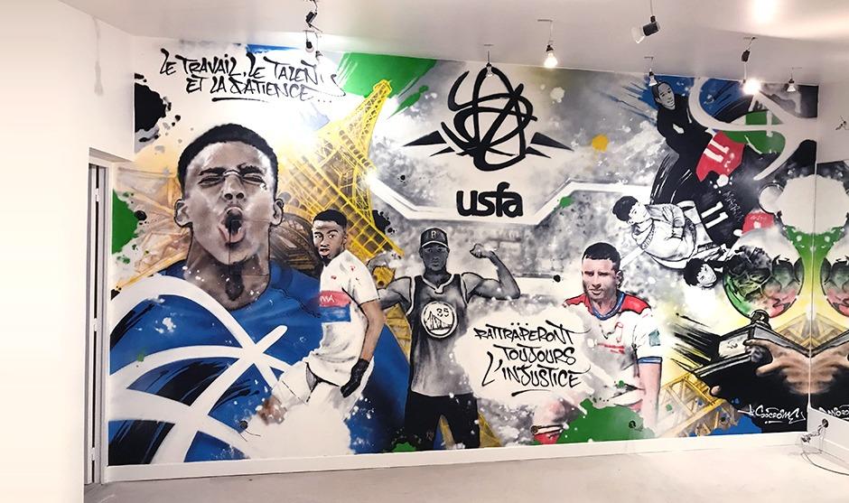 déco, décoration, salle de sport, graffiti, paris, boulogne, billancourt, street art