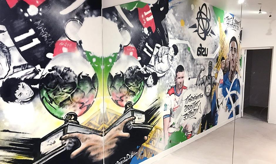 Salle, sport, graffiti, street Art, boulogne, Paris