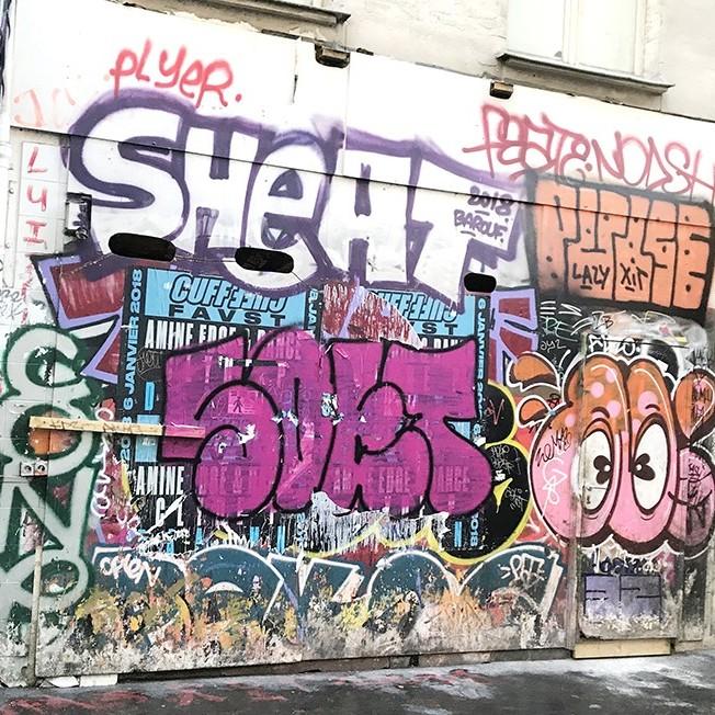Saturation, visuel, tag, graff, flop, throw up,, affiche, parisien