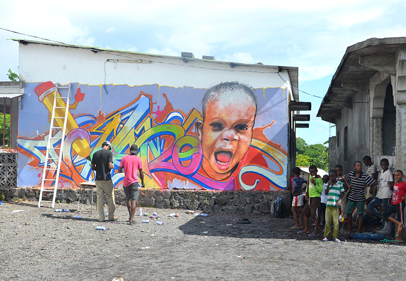 graffiti afrique, rue, jeunesse, sana, collectif artistes