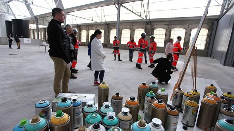 Team, building, atelier, graffiti, Street Art, Paris