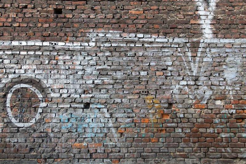 Mur, briques, art, street, nettoyée, textures