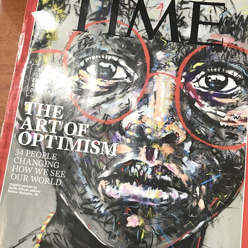 Time, magazine, USA, Art of Optimism, Nelson Makamo