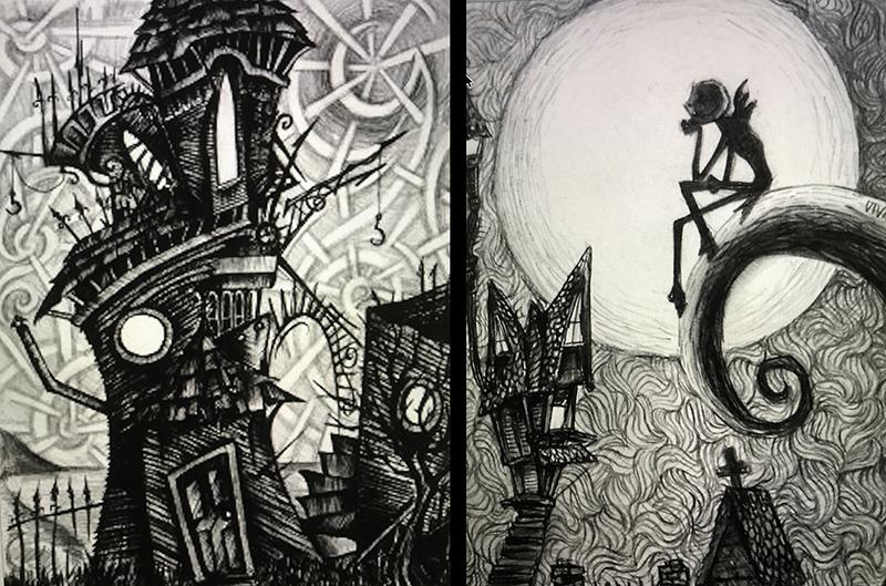 Tim Burton, inspiration, sketchs
