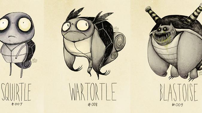 squirtle, wartortle, blastoise, dessins de personnages