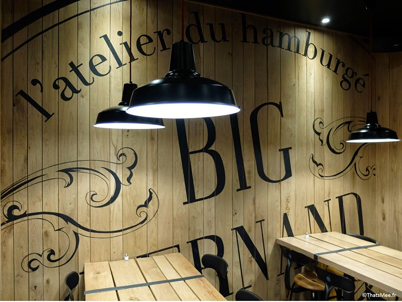 burger, big, fern and, restauration, décoration