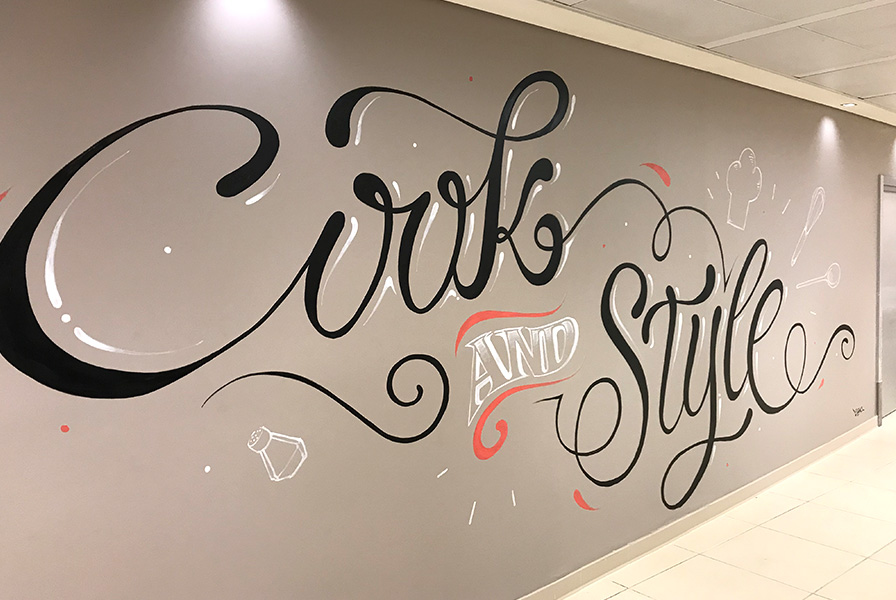 Cook, style, art, Typographie, décoration, calligraphie
