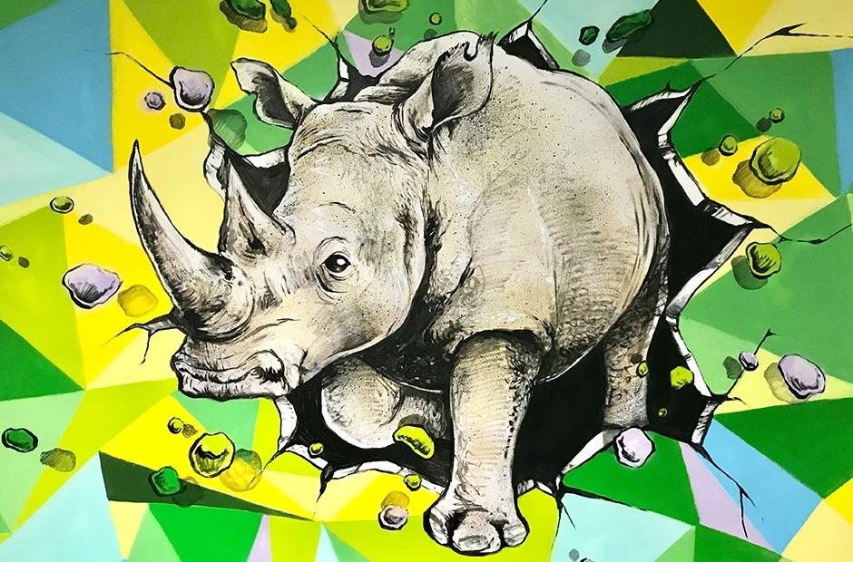 Rhinoceros, Paris, parisien, graffiti, street art, personnage
