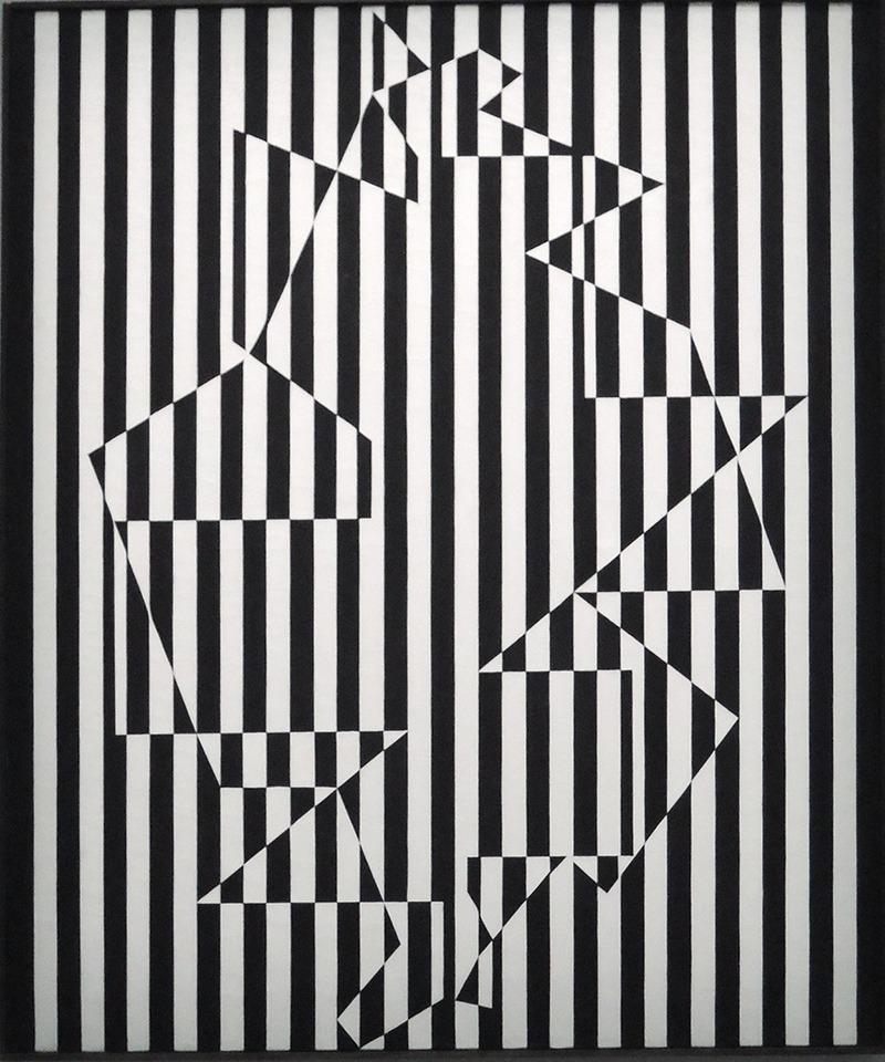 illusion, optique vasarely, effet, visuel