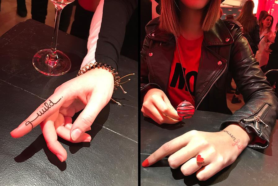 code couleur, rouge et noir, OR, CACHAREL, PARFUM