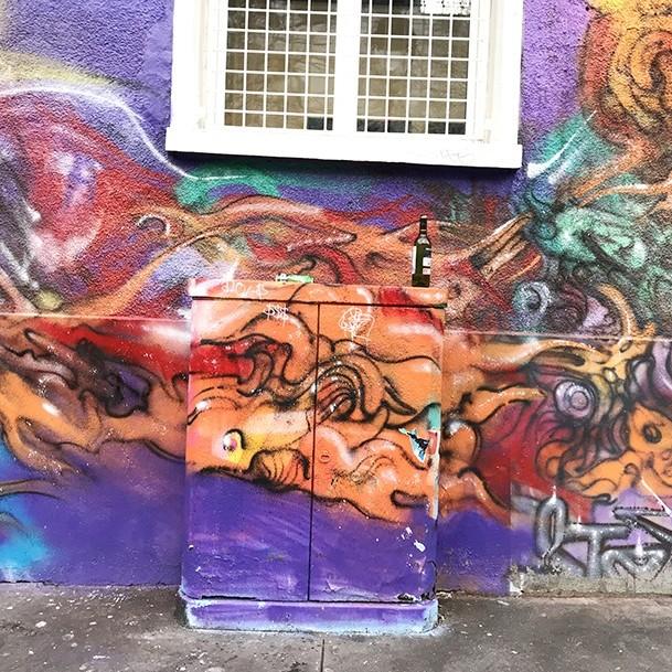 stesi, fresque, graffiti, street art, organique, abstrait