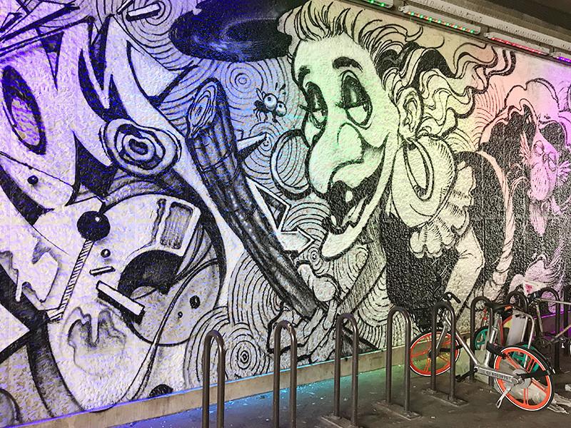 rue Broca, fresque murale, Paris, contes, rue Broca