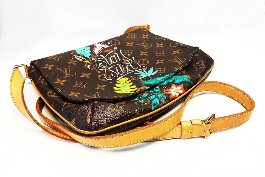 LV, Louis Vuitton, Custom, personnalisé, art, graff, tag