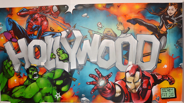 mur enfant, marvel, comic, tag, graph, graffiti