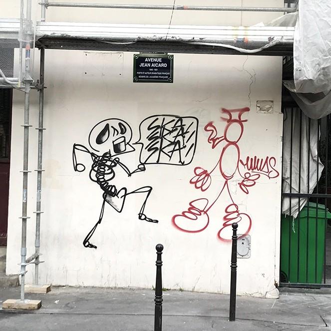 personnage, bizarre, weird, street art, graffiti