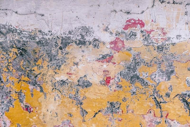 texture, urbaine, graffiti, street art, rouge, jaune, gris, béton, street art, graff