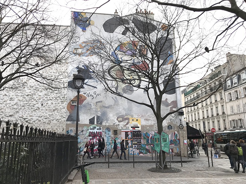 Fresque, monumentale, paris, parisien, street art