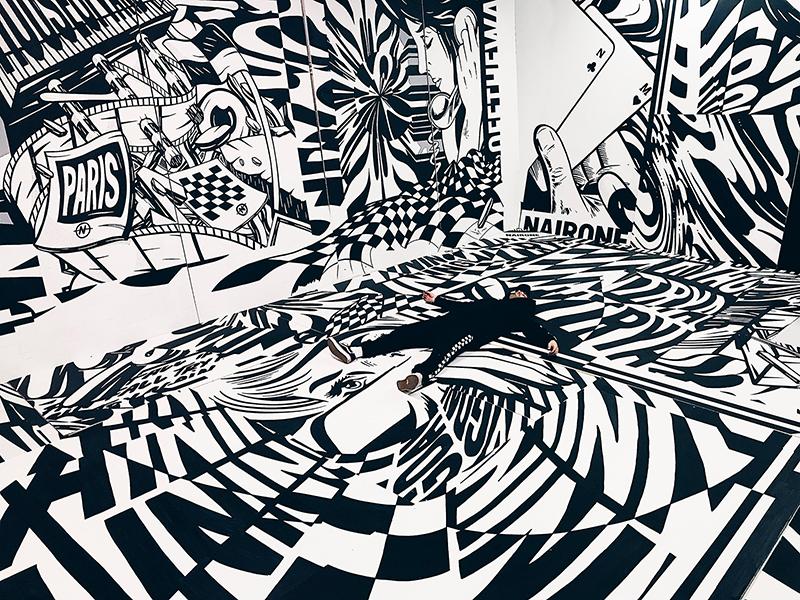 graffiti, graph, black and white, décoration
