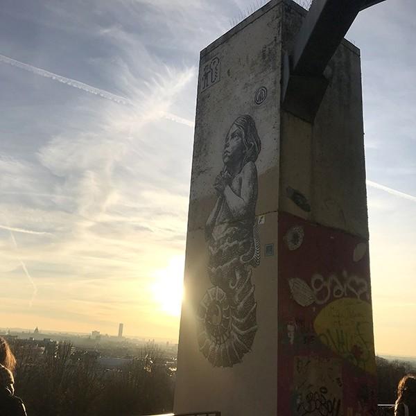 Street art, graffiti, Belleville, Art, Murale