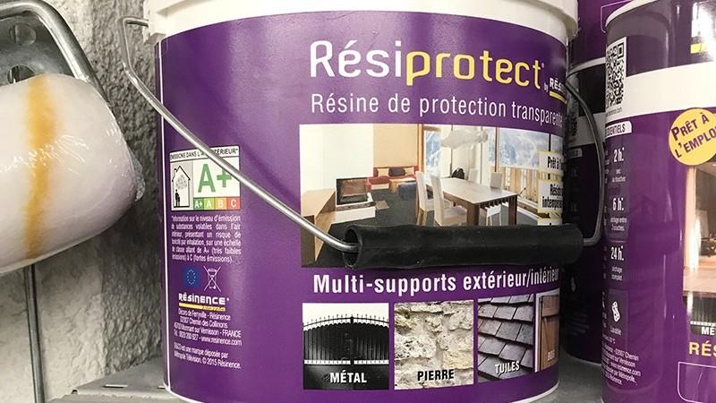 Résine, protection, vernis, supports, extérieur, intérieur