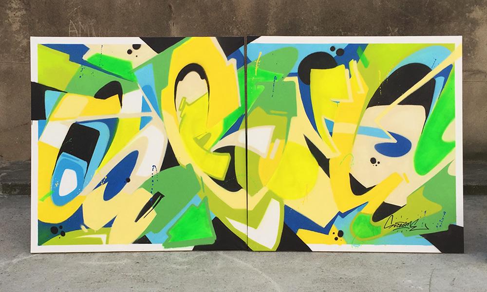 démonstration graffiti en live
