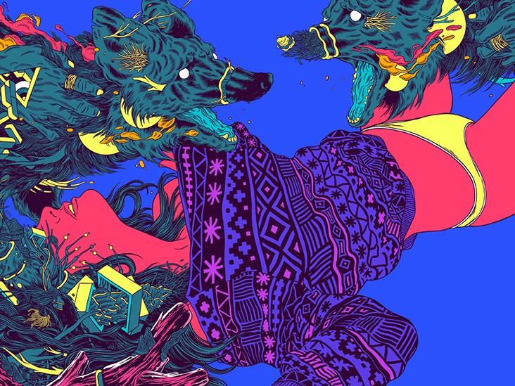 Illustration digitale, numérique, art, vectoriel, couleurs, aplats, style, modernité, flashy
