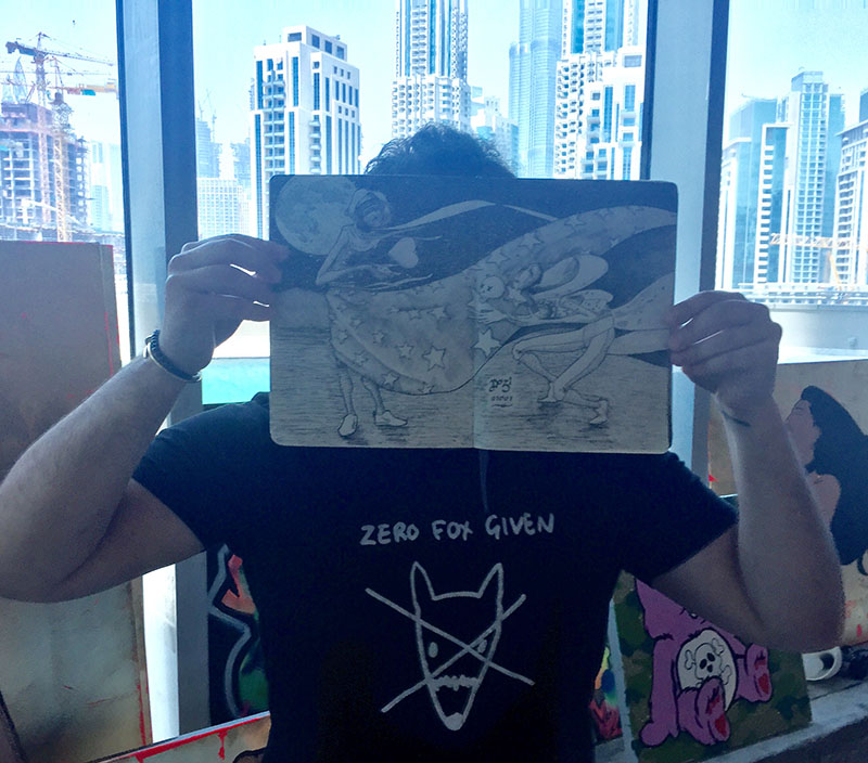 croquis, , dessin, street art, artiste, Dubai Emirats Arabes Unis, culture