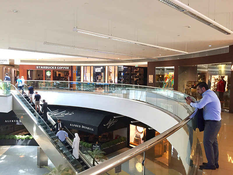intérieur centre commercial, shopping, magasins, Dubaï , Luxe