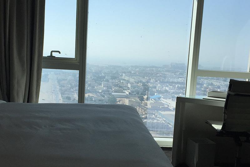 vue, paysage, Dubaï, tour, ville, hauteur