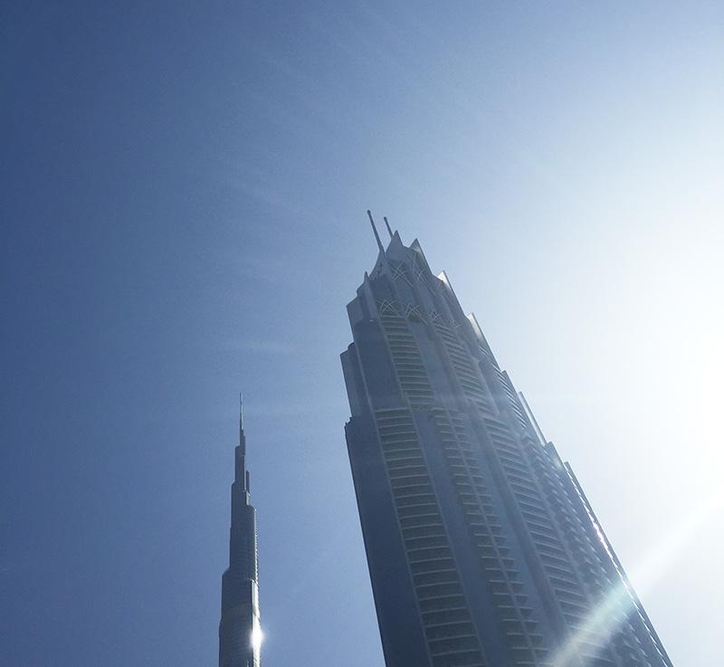 hauteur, tour, building, Dubaï, vue