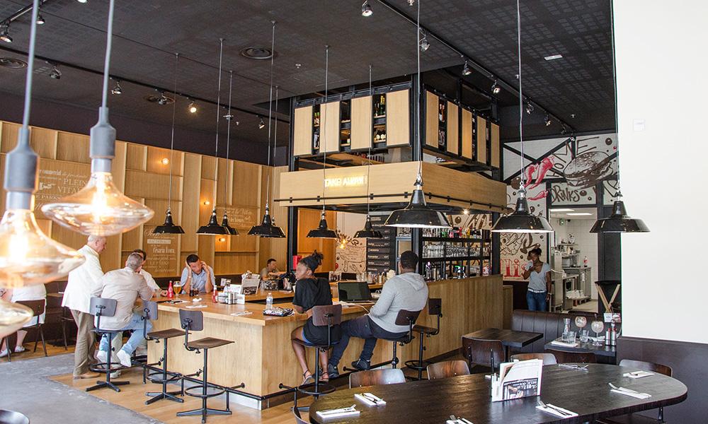 Burgers, paris, salle, disposition, décoration intérieure, art, street art, urbain