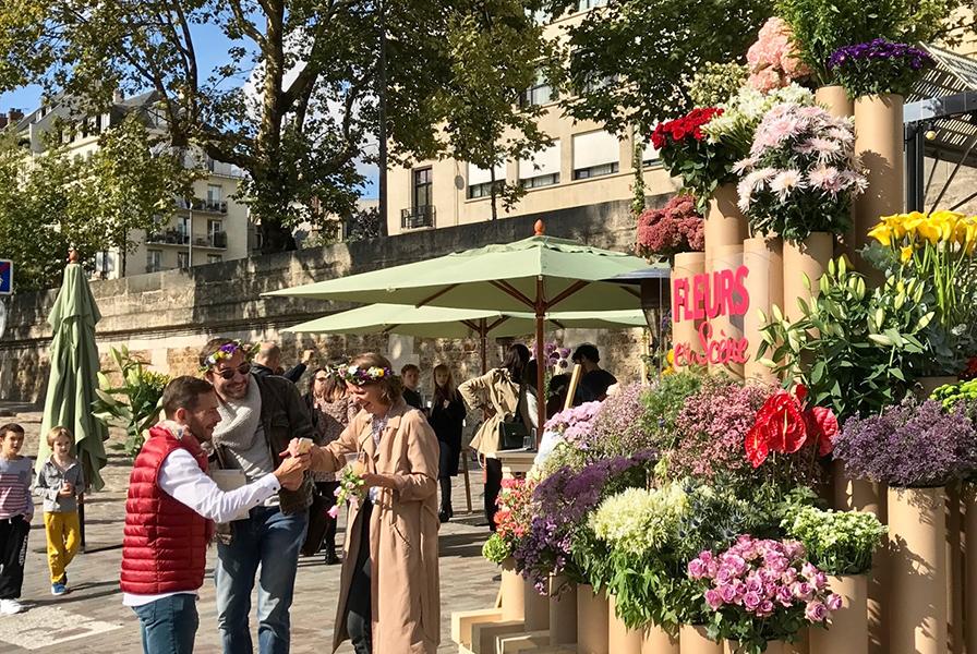 Fleurs en scène, guinguette, animations