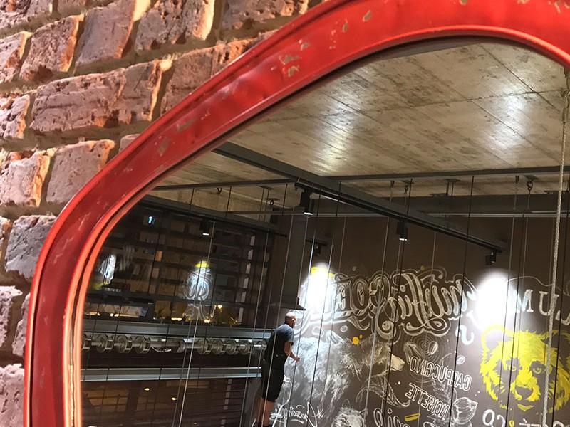 Rabat, Maroc, Fresque, typographie, Restaurant, Colombus